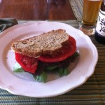 Summer in a sandwich - tomatoes at the farm