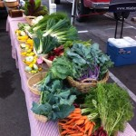Veggies ready for sale at market