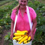 Donna with a good haul of summer squash
